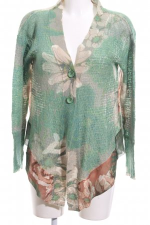 Bleifrei Cardigan green allover print business style
