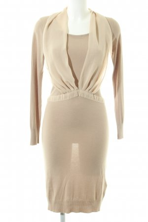 Bleifrei Knitted Dress cream-gold-colored elegant
