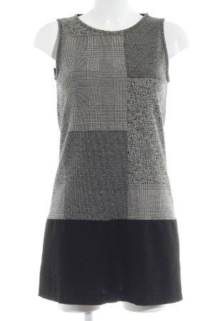 Bleifrei Wollen jurk grijs-zwart Patroon-mengeling Extravagante knoppen