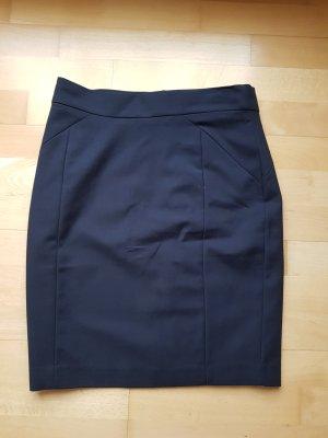 H&M Falda de tubo azul oscuro