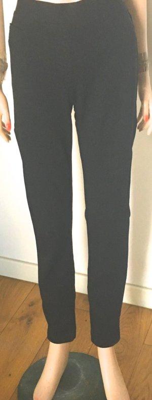 Luisa Cerano Pantalon cigarette noir-gris foncé tissu mixte