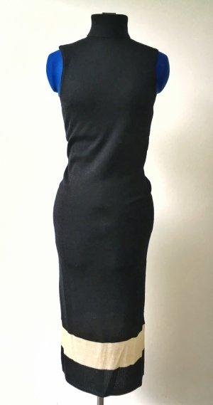Warehouse Falda estilo lápiz negro-crema