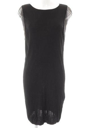Falda estilo lápiz negro-color plata elegante