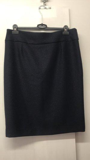 Falda de talle alto azul oscuro