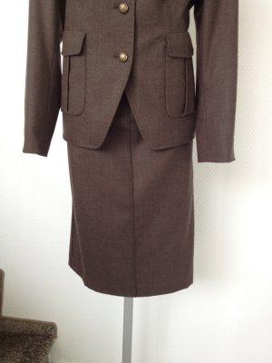 Pencil Skirt dark brown wool