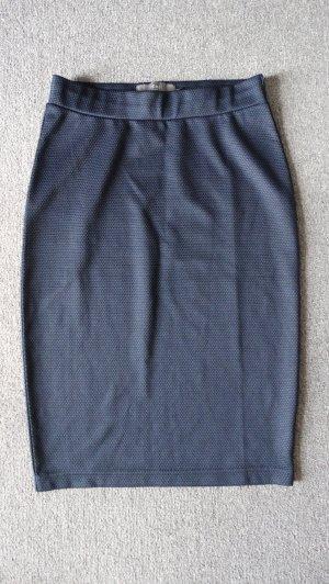 Ichi Pencil Skirt dark blue mixture fibre