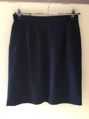 Bleistiftrock blau-schwarz kariert