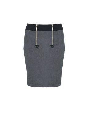 Pencil Skirt dark grey-black cotton