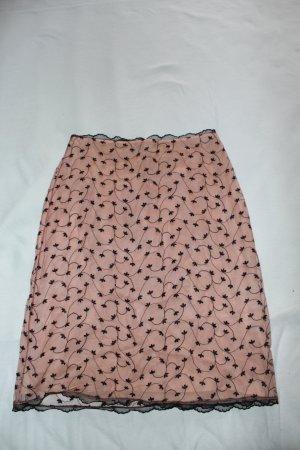 Blugirl Blumarine Falda de tubo rosa claro Nailon