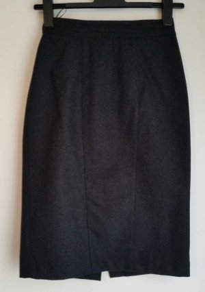 Lecomte Pencil Skirt black-anthracite mixture fibre