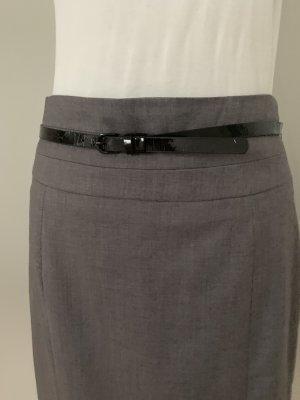 Bleistiftrock grau mit schwarzen Gürtel H&M