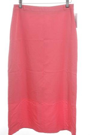 Falda de tubo rojo claro estilo clásico