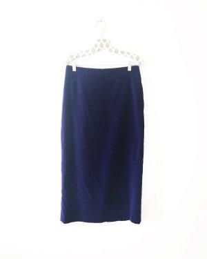 bleistiftrock / high waist / midi / vintage / lila / purple / boho / samt
