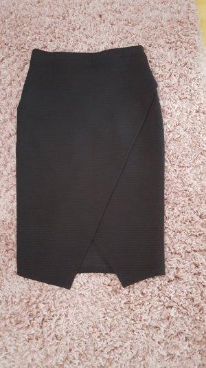 bleistiftrock in Schwarz gerippt