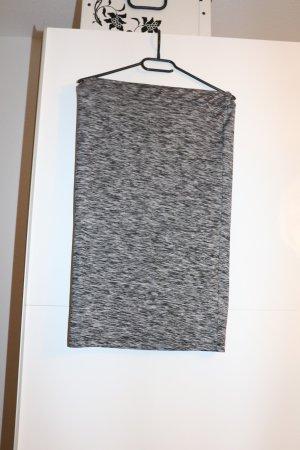 Bleistiftrock knielang grau schwarz meliert business Büro Outfit sexy