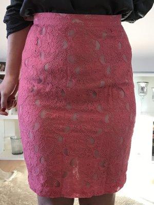 H&M Pencil Skirt raspberry-red