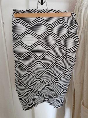 Amisu Falda de tubo blanco-negro