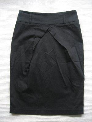 Bleistiftrock orsay schwarz Größe 34 xs buero business neu tulpenrock