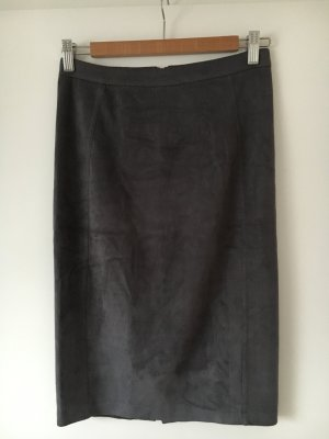 Atmosphere Pencil Skirt grey-dark grey imitation leather