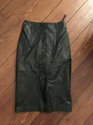 Edited Leather Skirt black leather