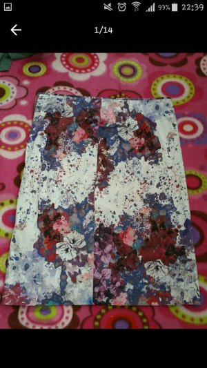 Bleistriftrock mit Blumen-Print, Sommerrock