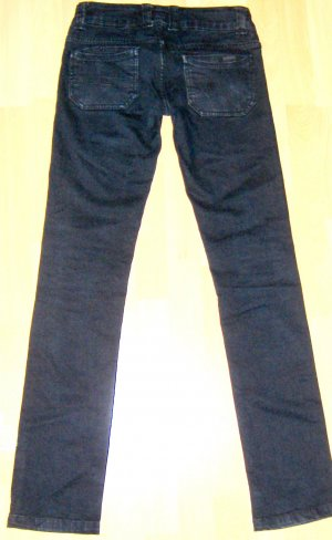 Blend Low Rise Jeans black-dark blue mixture fibre