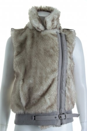 Blend Fake Fur Vest cream-grey fluffy