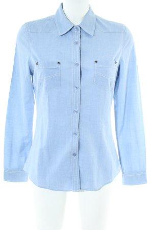 Blend Langarm-Bluse blau Casual-Look