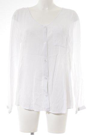 Blend Langarm-Bluse weiß klassischer Stil