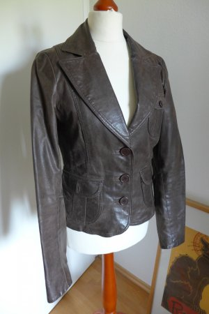 Blend Leather Jacket multicolored leather