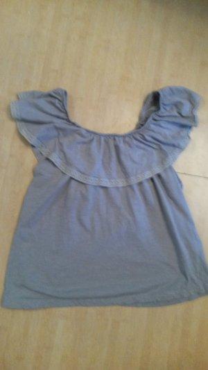 BlendShe Carmen Blouse light grey cotton