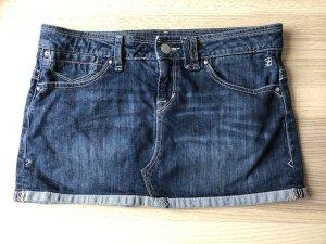 Jupe en jeans bleu foncé