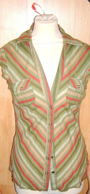Blend She Sommerbluse Safari Stripes
