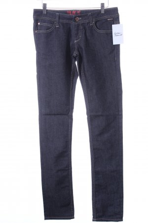 Blend Straight Leg Jeans dark blue-light grey flecked casual look