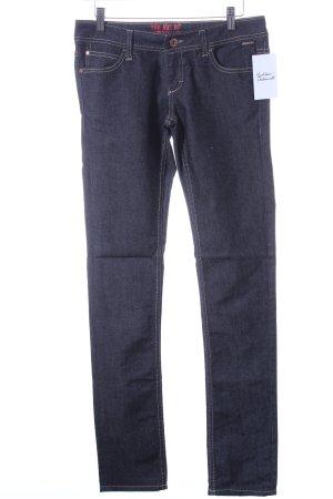 Blend Jeans a gamba dritta blu scuro-grigio chiaro puntinato stile casual