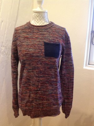 Blend Knitted Sweater multicolored cotton