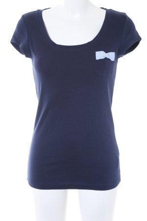 Blend T-Shirt dunkelblau klassischer Stil