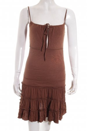 BlendShe Vestido Hippie marrón-color bronce estampado floral Estilo playero
