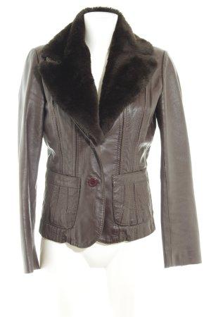 BlendShe Blazer in jersey marrone stile casual