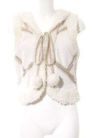BlendShe Hooded Vest cream casual look