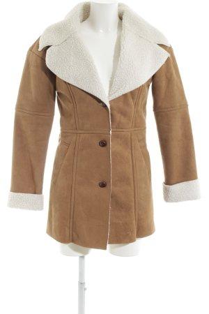 BlendShe Fake Fur Coat brown-white casual look