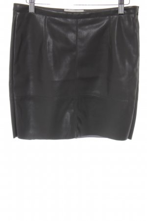 BlendShe Faux Leather Skirt green grey casual look