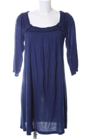 BlendShe Longsleeve Dress steel blue-black spot pattern casual look