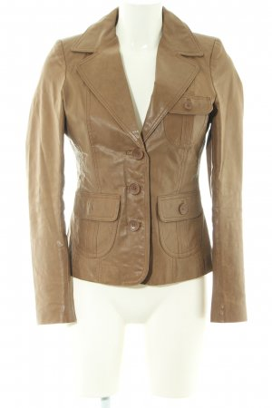 BlendShe Leather Jacket bronze-colored casual look