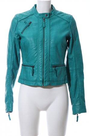BlendShe Leather Jacket turquoise casual look