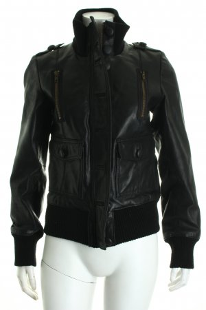 BlendShe Leather Jacket black biker look