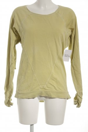 "BlendShe Kraagloze sweater ""She dares"" limoen geel"