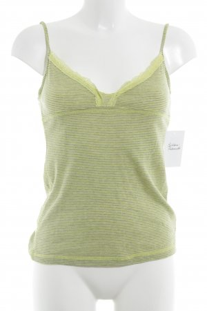 BlendShe Spaghetti Strap Top grey-neon yellow striped pattern casual look