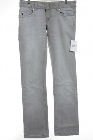 BlendShe Straight Leg Jeans light grey simple style
