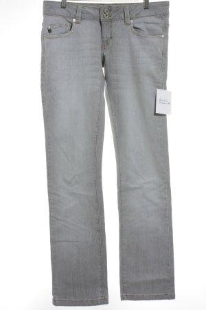 BlendShe Straight-Leg Jeans hellgrau schlichter Stil